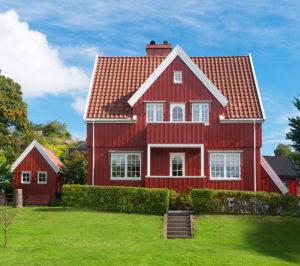 Rød farge på hus - inspirasjon